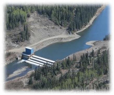 Photo of Mayo Yukon Dam, Photo credit: Yukon Energy