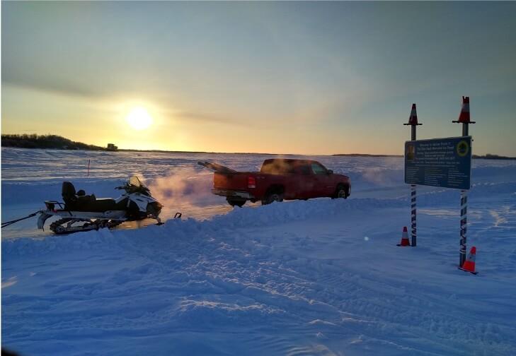 Kuskokwim River Ice Road, Alaska, Winter 2019 - 2020