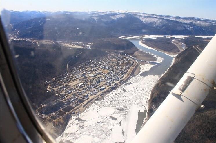 Photo of Yukon River at Dawson, Photo credit: B.Turcotte, Yukon Environment